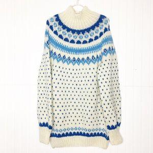 Vintage   Fair Isle Sweater Dress